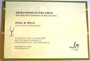 Geschenkgutscheine / Weinseminare