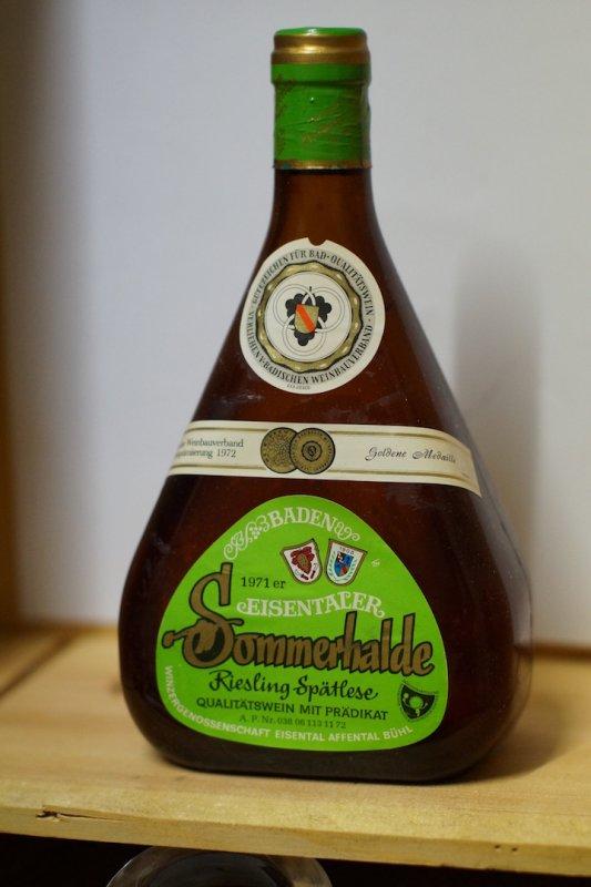 1971Riesling Spätlese Eisentaler Sommerhalde WG Eisental Affental Bühl