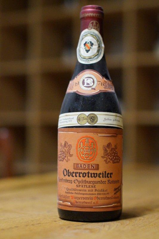 1976Spätburgunder Spätlese Hensenberg