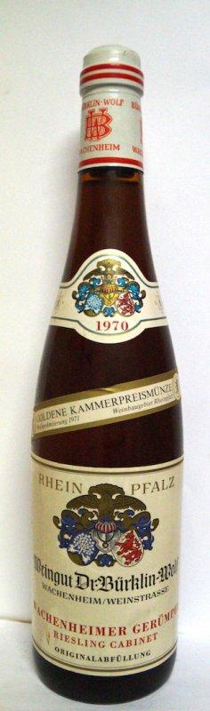 1970Riesling Cabinet Wachenheimer Gerümpel Dr. Bürklin-Wolf