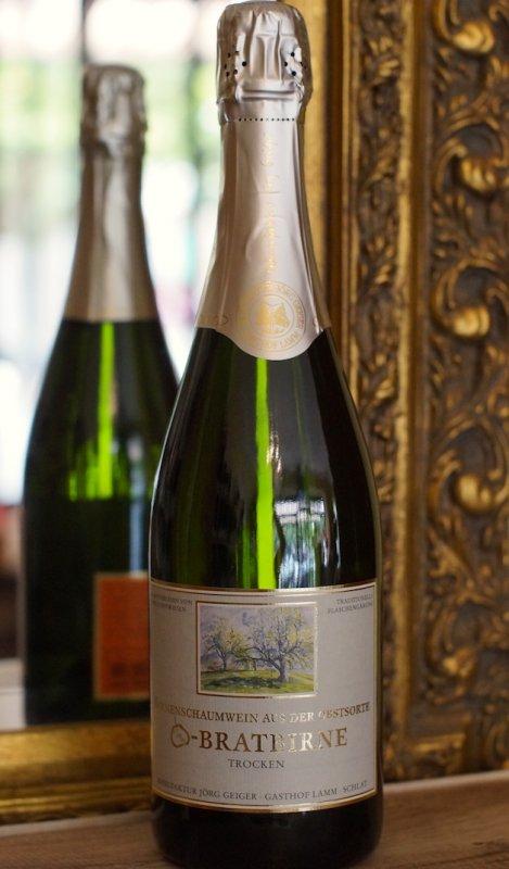 Birnenschaumwein aus der Champagnerbratbirne trocken