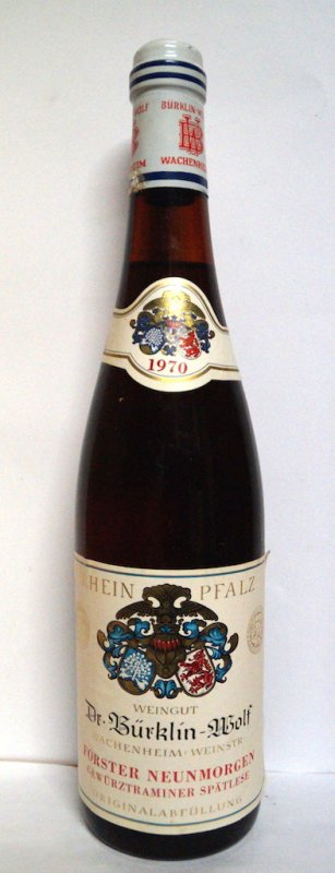 1970Gewürztraminer Spätlese Forster Neunmorgen Dr. Bürklin-Wolf